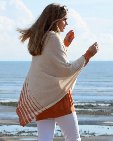 Clotted Cream and Apricot Poncho Eco Collection