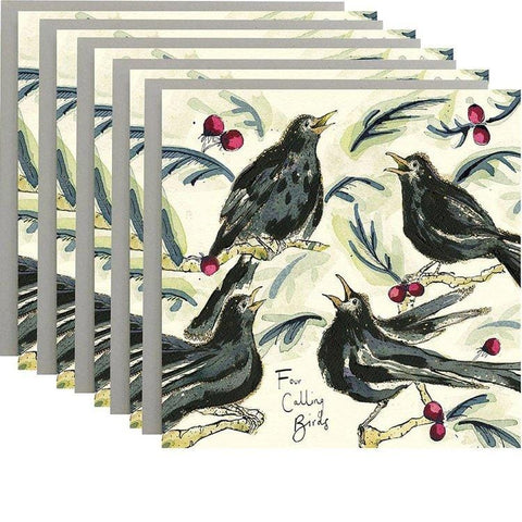 Four Calling Birds - Pack of 5 Cards