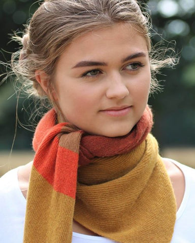 Mustard Cashmere Blend Triangle Scarf