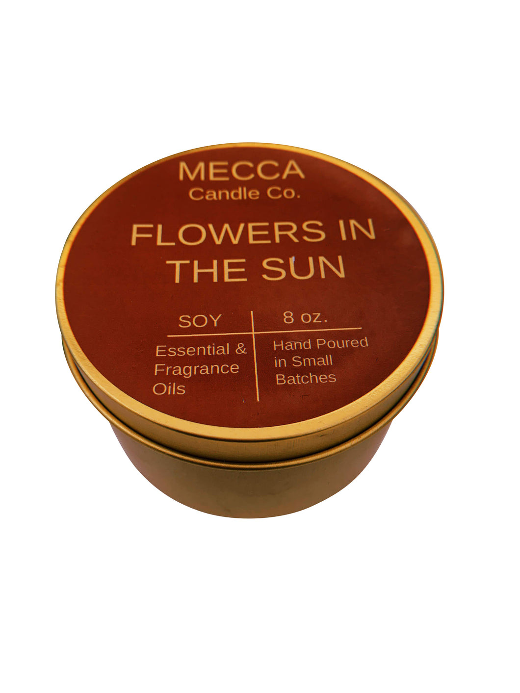 """Flowers in the Sun"" 8oz Gold Tin"