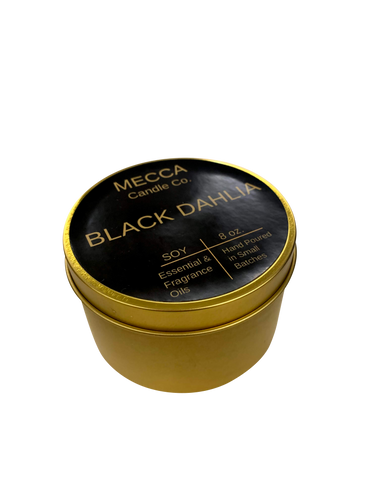 black dahlia soy candle