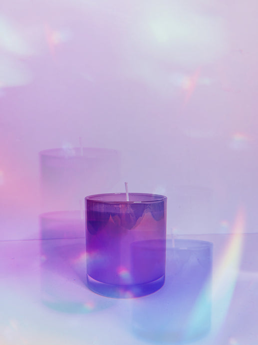 violet soy candle
