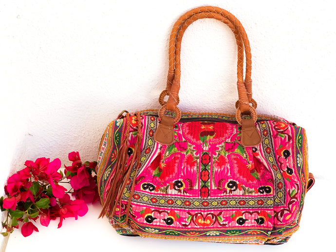 Spirit Flower Rainbow Satchel