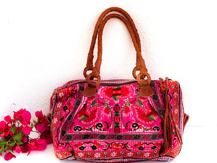 Spirit Flower Rose Satchel
