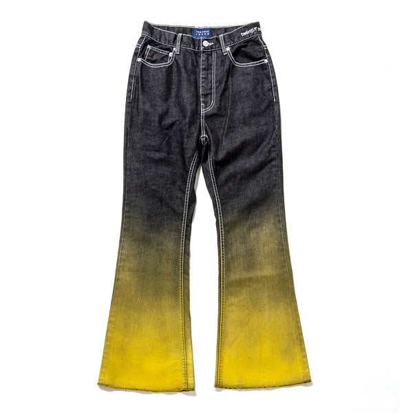 Gradation Print Denim Pants