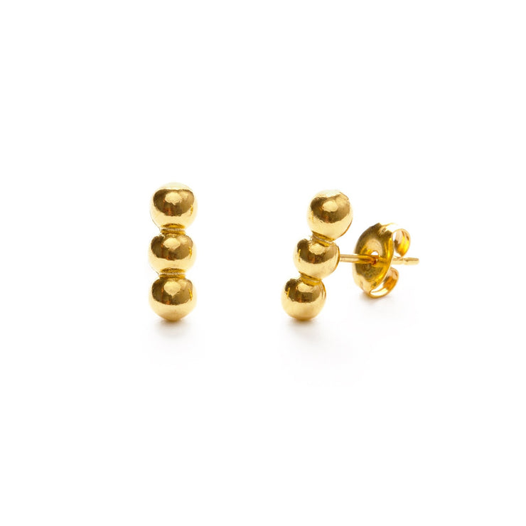 Three Ball Stud Earrings