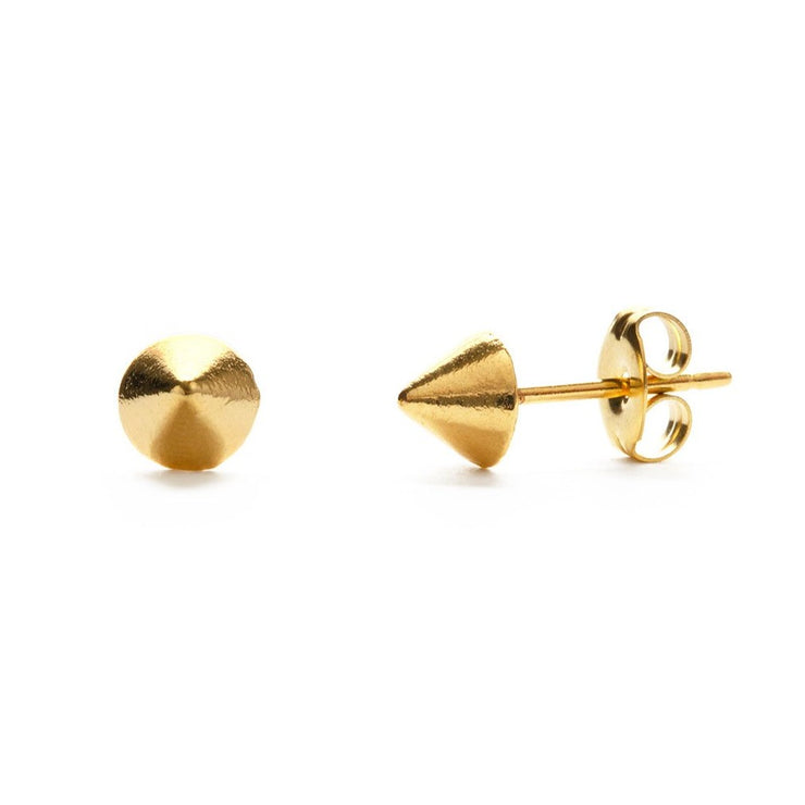 Geometric Cone Stud Earrings
