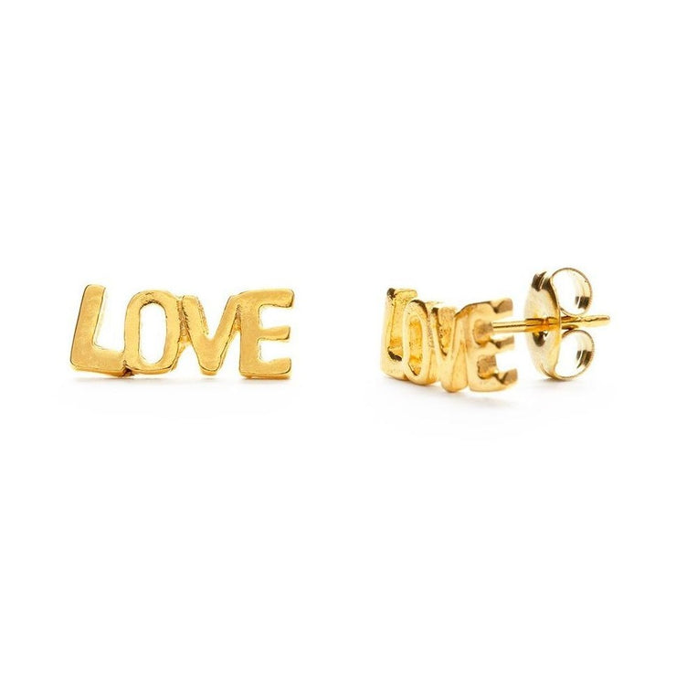"""Love"" Stud Earrings"
