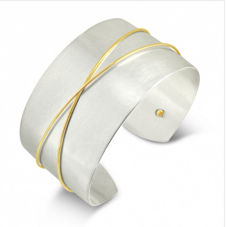 Contemporary Mixed Metal Cuff Bracelet