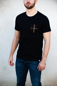 Crimson Scout Pocket Tee (Black)