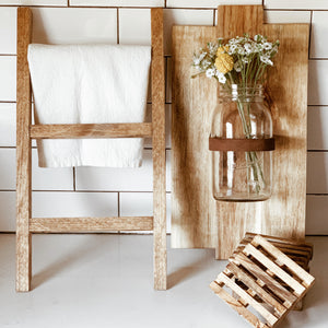 Rustic Wooden Display Ladder