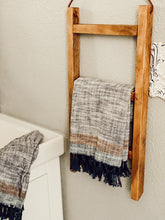 Rustic Hanging Towel Ladder