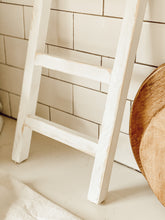 White Rustic Wooden Display Ladder