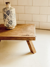 January Market Rustic Wooden Riser