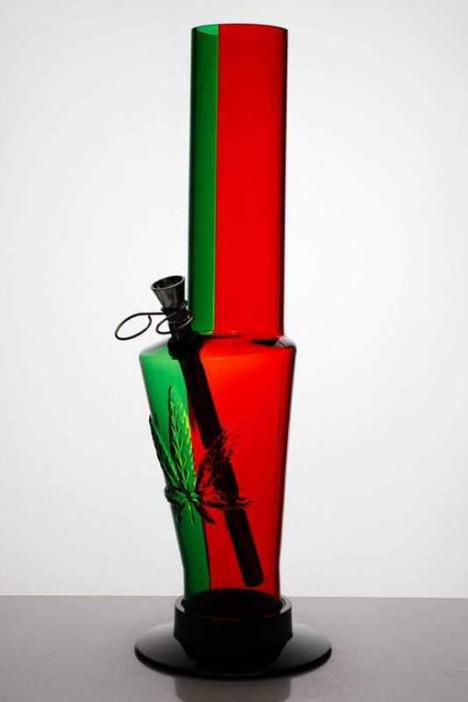 "12"" acrylic rasta water pipe - Bong outlet Canada"