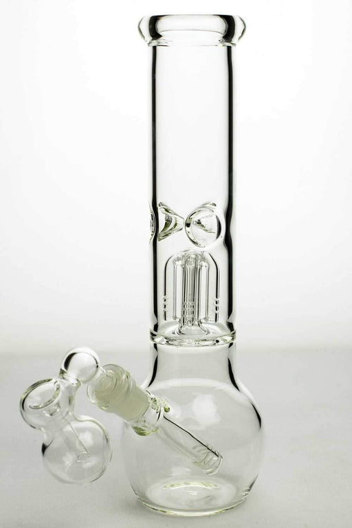 "11"" glass round base water bong with 4 arms percolator - Bong outlet Canada"