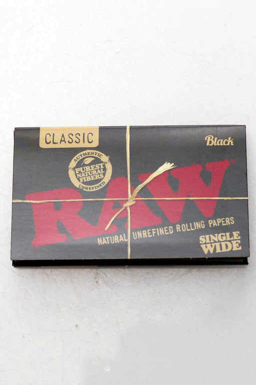 RAW Black Natural Unrefined Rolling Paper - One wholesale Canada