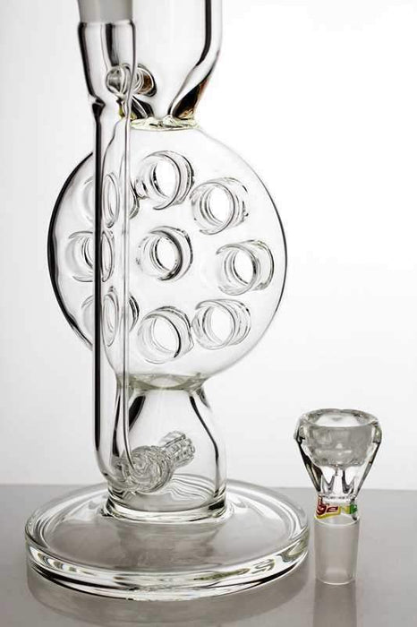 "16"" 9 holes siwss and inline diffuser glass water bong - Bong outlet Canada"