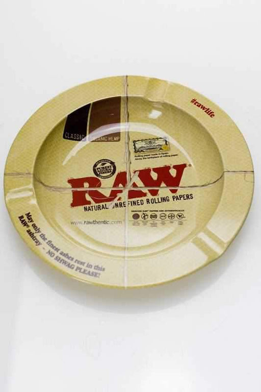 Raw metal ashtray with magnet backing - One wholesale Canada