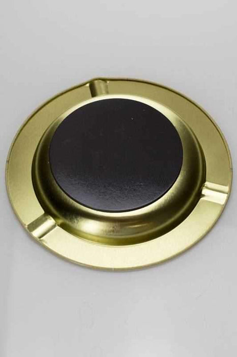 Raw metal ashtray with magnet backing - One Wholesale