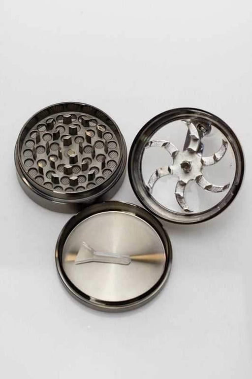 3 parts aluminium herb grinder with handle - Bong outlet Canada