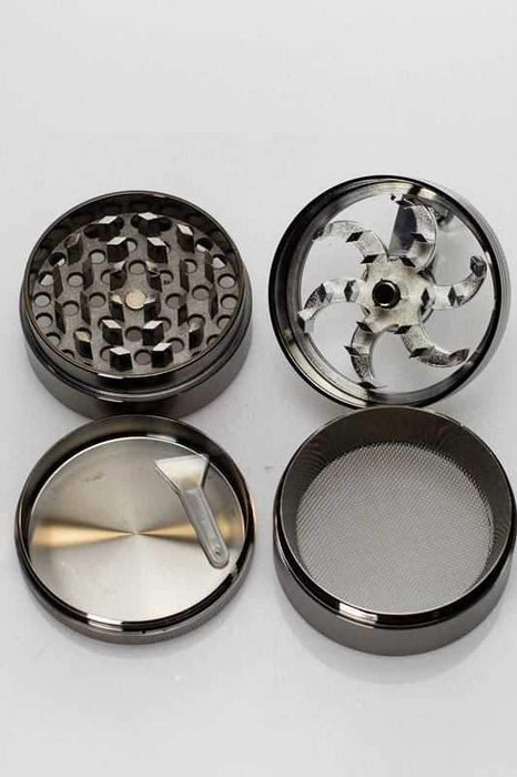 4 parts aluminium herb grinder with handle - Bong outlet Canada