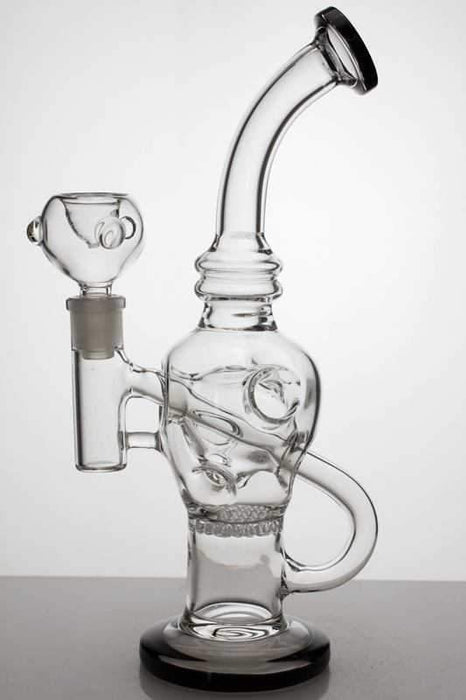 "10"" Round base recycle bubbler with honeycomb diffuser - Bong outlet Canada"