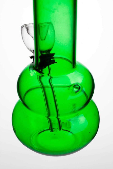 "6"" green glass small water bong - Bong outlet Canada"