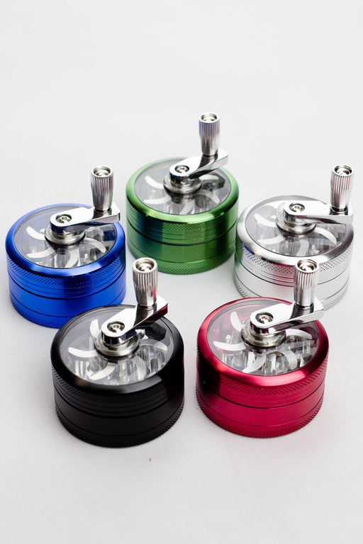3 parts infyniti aluminium herb grinder with handle - Bong outlet Canada