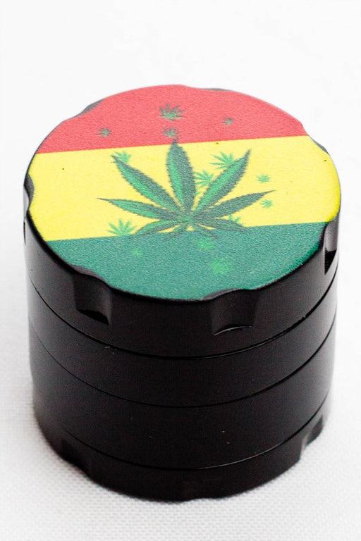 4 parts infyniti small rasta leaf herb grinder - Bong outlet Canada