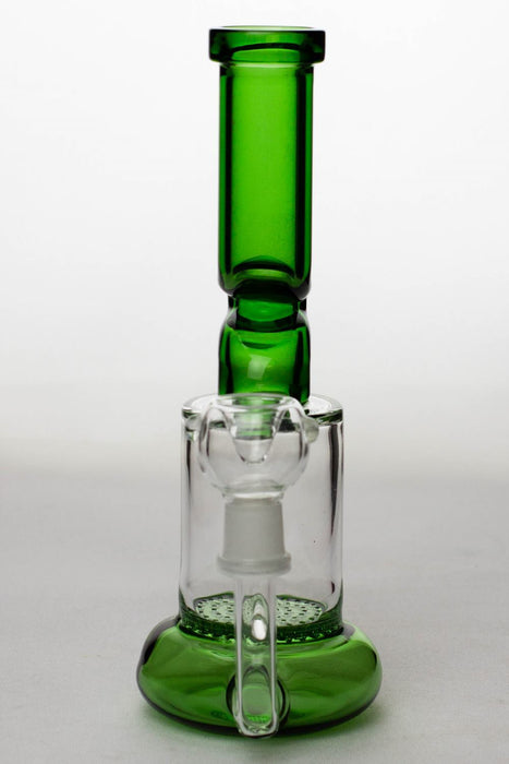 "8"" honeycomb flat diffused kink bubbler - Bong outlet Canada"
