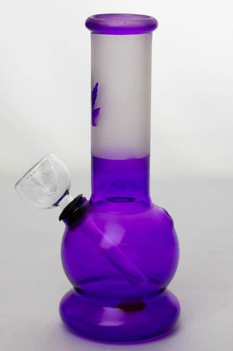 "6"" Two tone color purple glass water bong - One wholesale Canada"