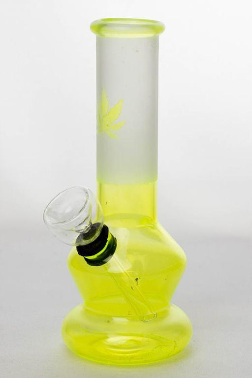 "6"" Two tone color Lime glass water bong - Bong outlet Canada"