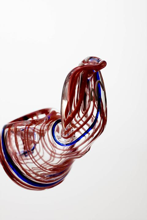 Cobra shape glass hand pipe - One wholesale Canada