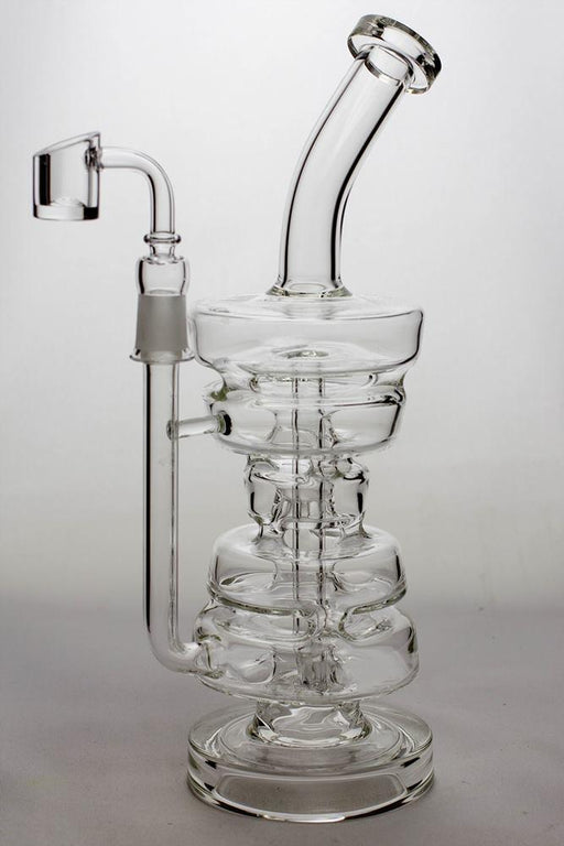 11 in. Pully recycled bubbler with a banger - One wholesale Canada