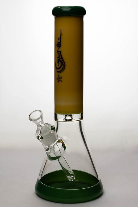 13 in. Genie two tone 9 mm glass beaker water bong - Bong outlet Canada