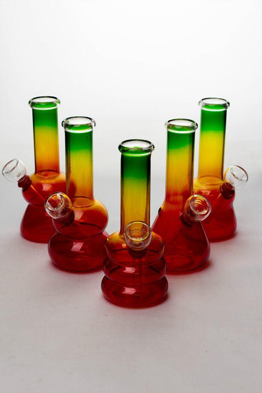 6 in. Rasta glass water bong - Bong outlet Canada