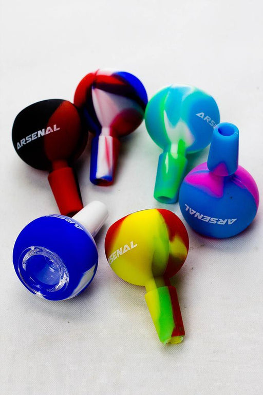 Arsenal silicone bowl with glass bowl - One wholesale Canada