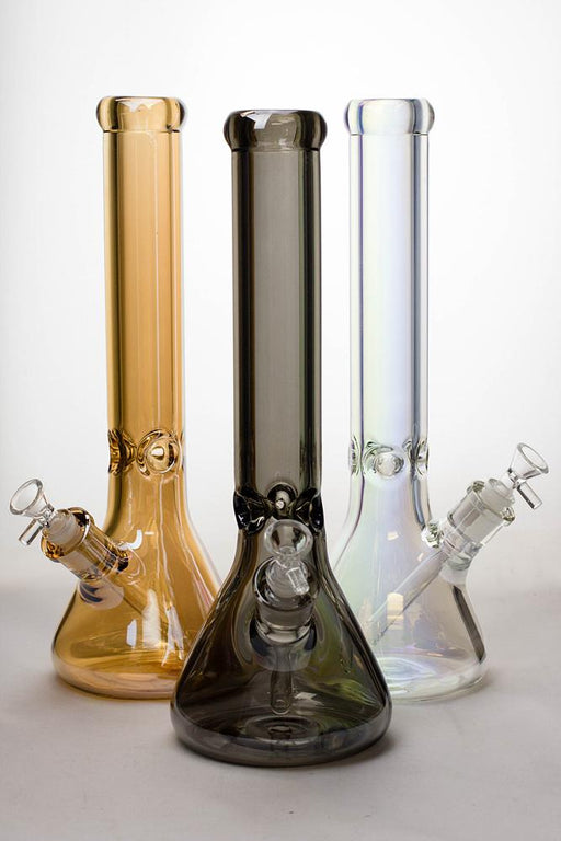 15 in. Metallic 9 mm glass beaker bong - One wholesale Canada