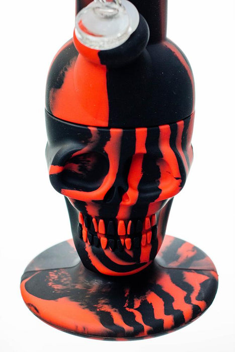 "11"" Genie Detachable mixed color silicone skull water bong - One wholesale Canada"