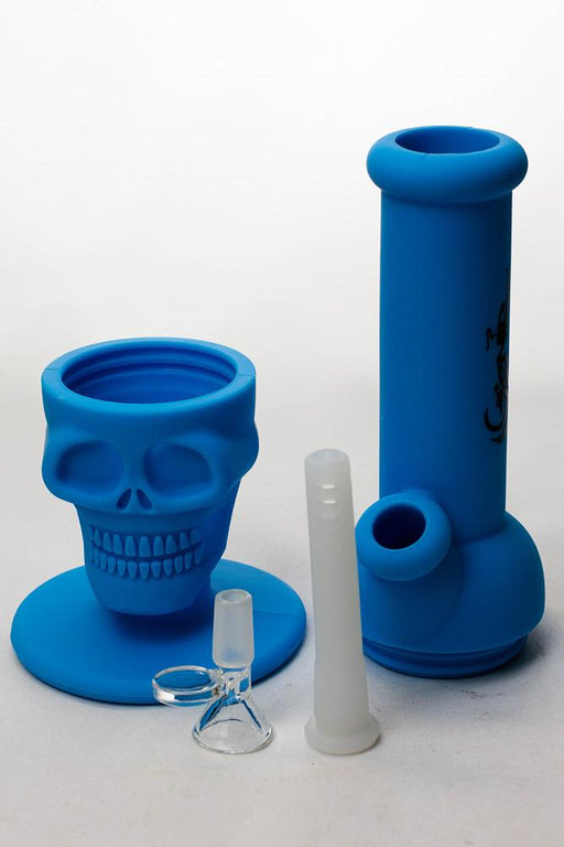 "11"" Genie Detachable solid color silicone skull water bong - Bong outlet Canada"