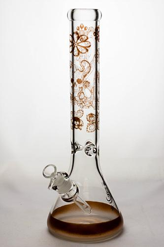 16 inches 9 mm sandblasting artwork glass water bong - Bong outlet Canada