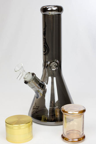 "Genie 12"" Metallic heady glass beaker bong gift set - One wholesale Canada"