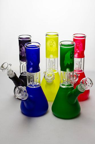 "8"" single dome percolator beaker water bong"