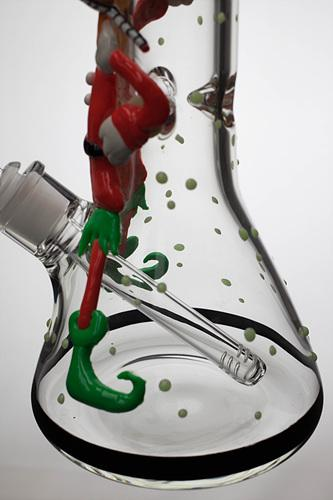 "13"" Glow in the dark artwork 7 mm glass bong - One wholesale Canada"