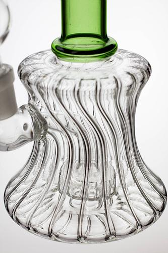 "7"" pattern glass bent neck bubbler with a diffuser - Bong outlet Canada"