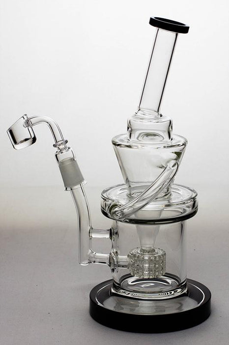 "10"" Barrel-diffuser recycled rig with a banger - Bong outlet Canada"