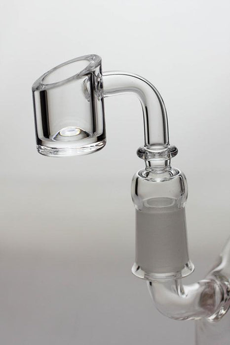 "8.5"" dual shower head recycled rig with a banger - Bong outlet Canada"