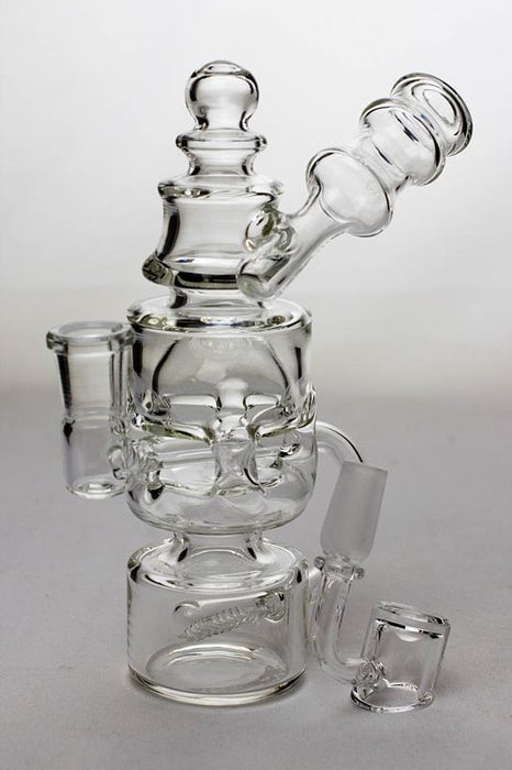 "7"" Inline diffuser recycled bubbler with a banger - Bong outlet Canada"