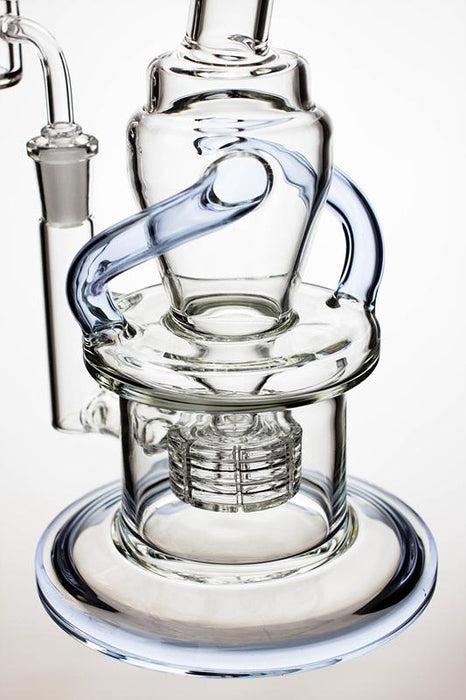 "10"" Barrel-diffuser double tube recycled rig - Bong outlet Canada"